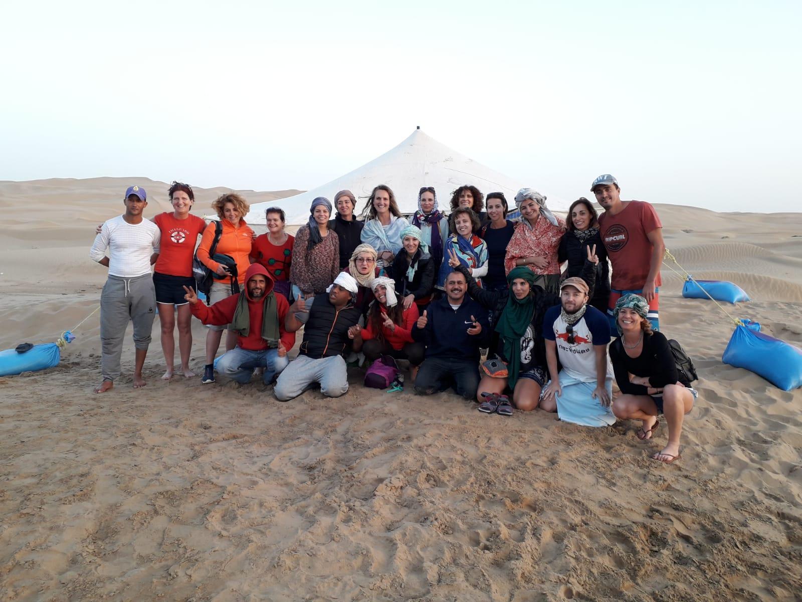 El equipo en el Sahara